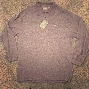 Men's, warm, long sleeve, collared shirt.